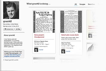 Profile page on Orlando Sentinel Archive
